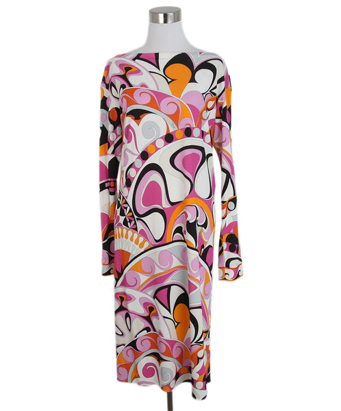 Emilio Pucci Pink Orange Print Dress 1