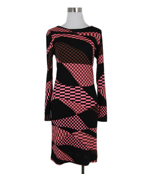 Emilio Pucci black pink brown dress 1