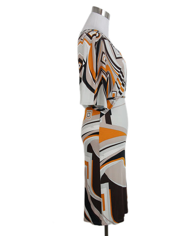 Emilio Pucci brown orange grey dress 1