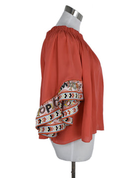Emilio Pucci Coral Silk Yellow Blue Top 2