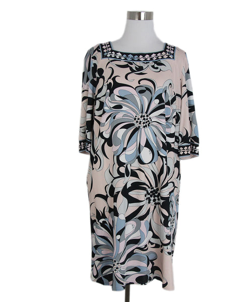 Emilio Pucci pink grey black print dress 1