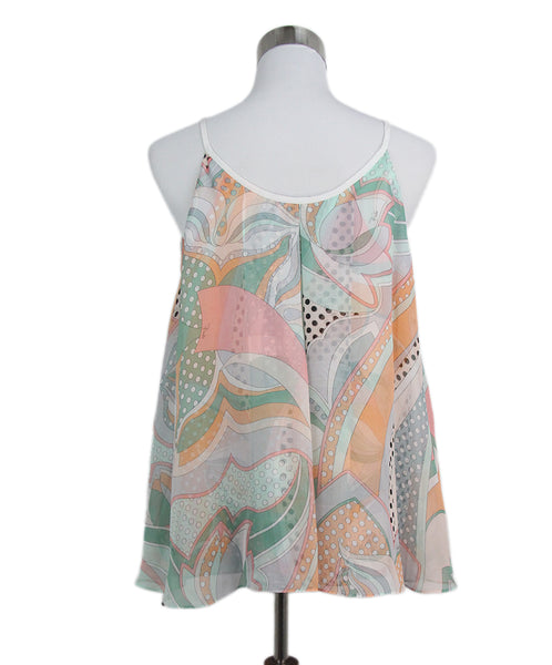 Emilio Pucci pink orange green silk top 1