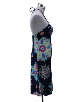 Emilio Pucci Blue White Pink Yellow Viscose Dress 1