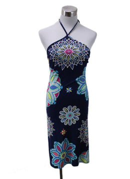 Emilio Pucci Blue White Pink Yellow Viscose Dress