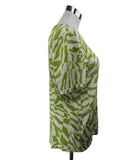 Equipment Green Lime White Cashmere Silk Top 2