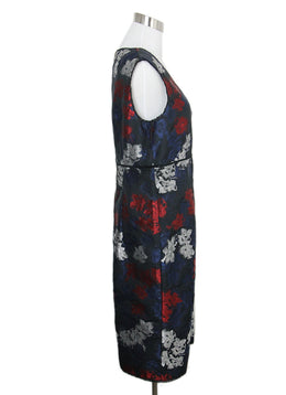 Erdem Blue Red Floral Dress 2