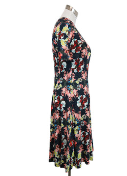 Erdem Navy Floral Dress 3