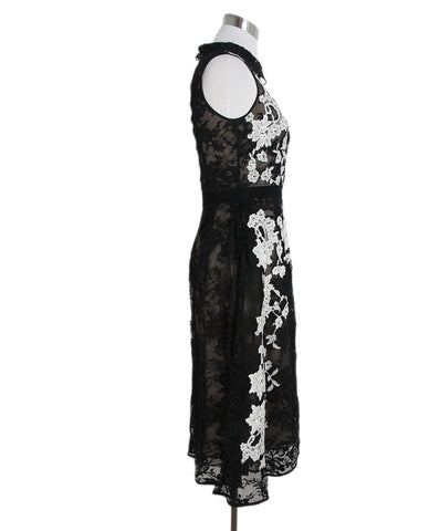 Erdem black white lace dress 1