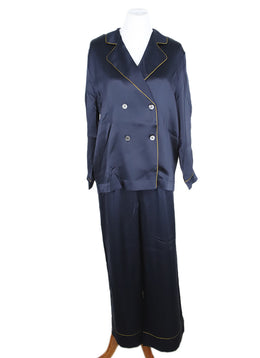Eres Navy Blue Silk Sleepwear Set 1