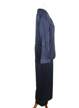 Eres Navy Blue Silk Sleepwear Set 2