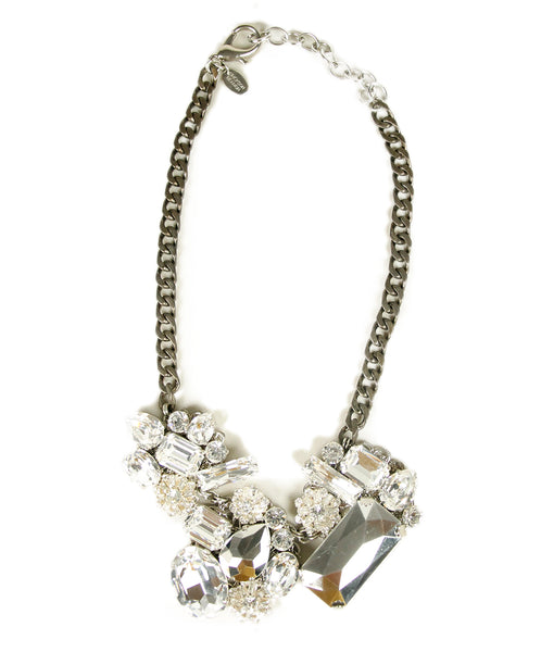 Erikson Beamon Metallic Rhinestones Necklace 1