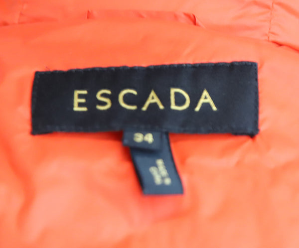 Escada Red Wool Removable Nylon Puffer Coat 5