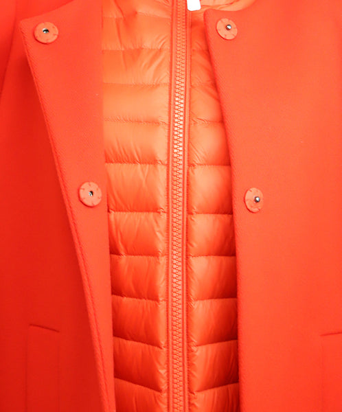Escada Red Wool Removable Nylon Puffer Coat 6