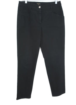 Escada Black Cotton Pants 1