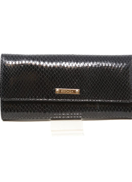 Escada Black Vinyl Wallet 1
