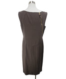 Escada Brown Rayon Zipper Trim Dress 3