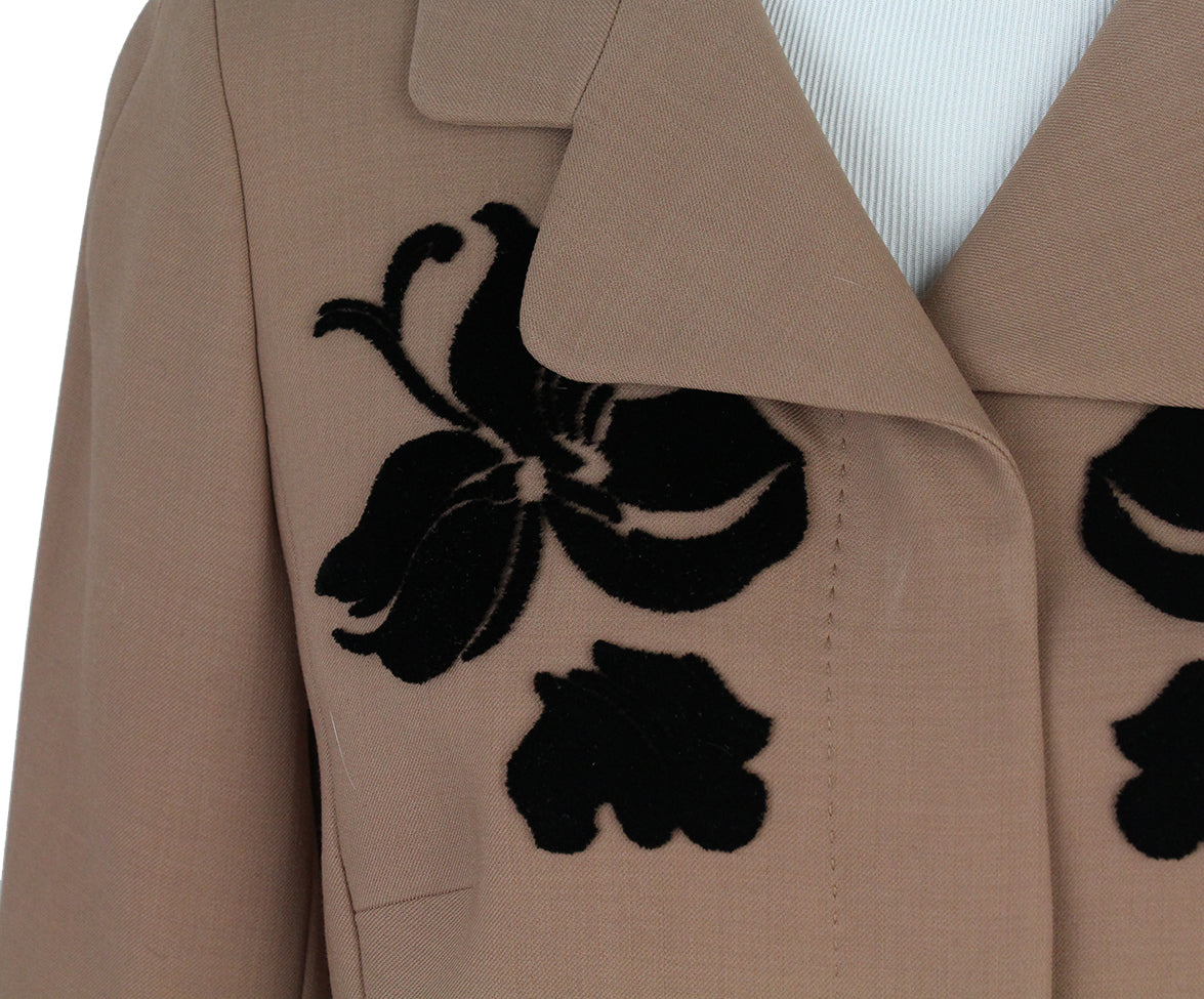Escada Caramel Black Velvet embroidery jacket 6