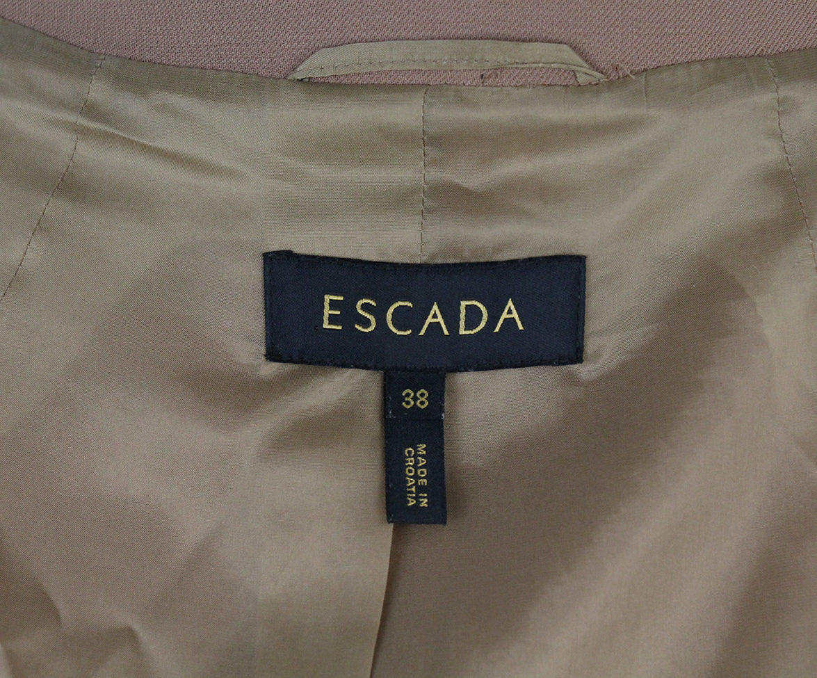 Escada Caramel Black Velvet embroidery jacket 4