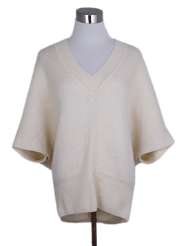 Escada Ivory Cashmere Cape Sweater 1