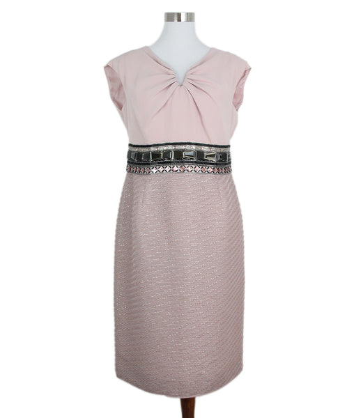 Escada Pink Beaded Dress 1