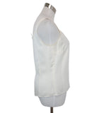 Escada White Ivory Silk Top 2