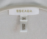Escada White Ivory Silk Top 4