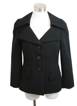 Escada Black Triacetate Polyester Blazer 1