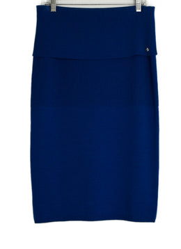 Escada Blue Knit Skirt sz. 8 | Escada