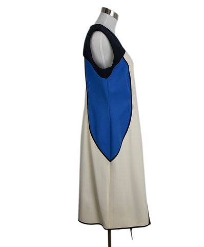 Escada Blue White Navy Wool Dress 1