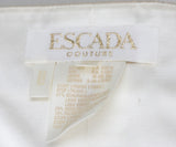 Escada Metallic Gold Ivory Damask Wool Satin Dress 3