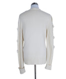 Sweater St Escada Size 6 Neutral Ivory Cashmere Wool Mink Drops Sweater 3