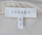 Sweater St Escada Size 6 Neutral Ivory Cashmere Wool Mink Drops Sweater 4