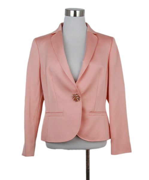 Escada peach satin jacket 1