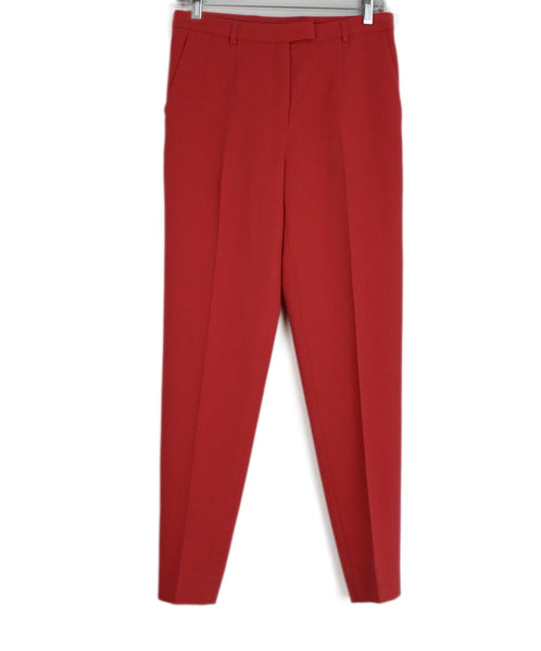 Escada Pink Coral Wool Pants 1