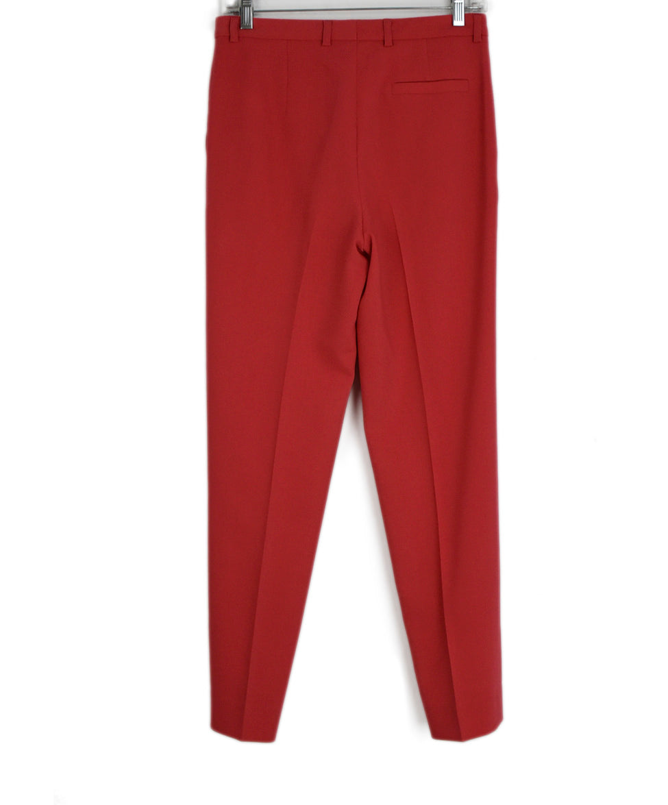 Escada Pink Coral Wool Pants 2
