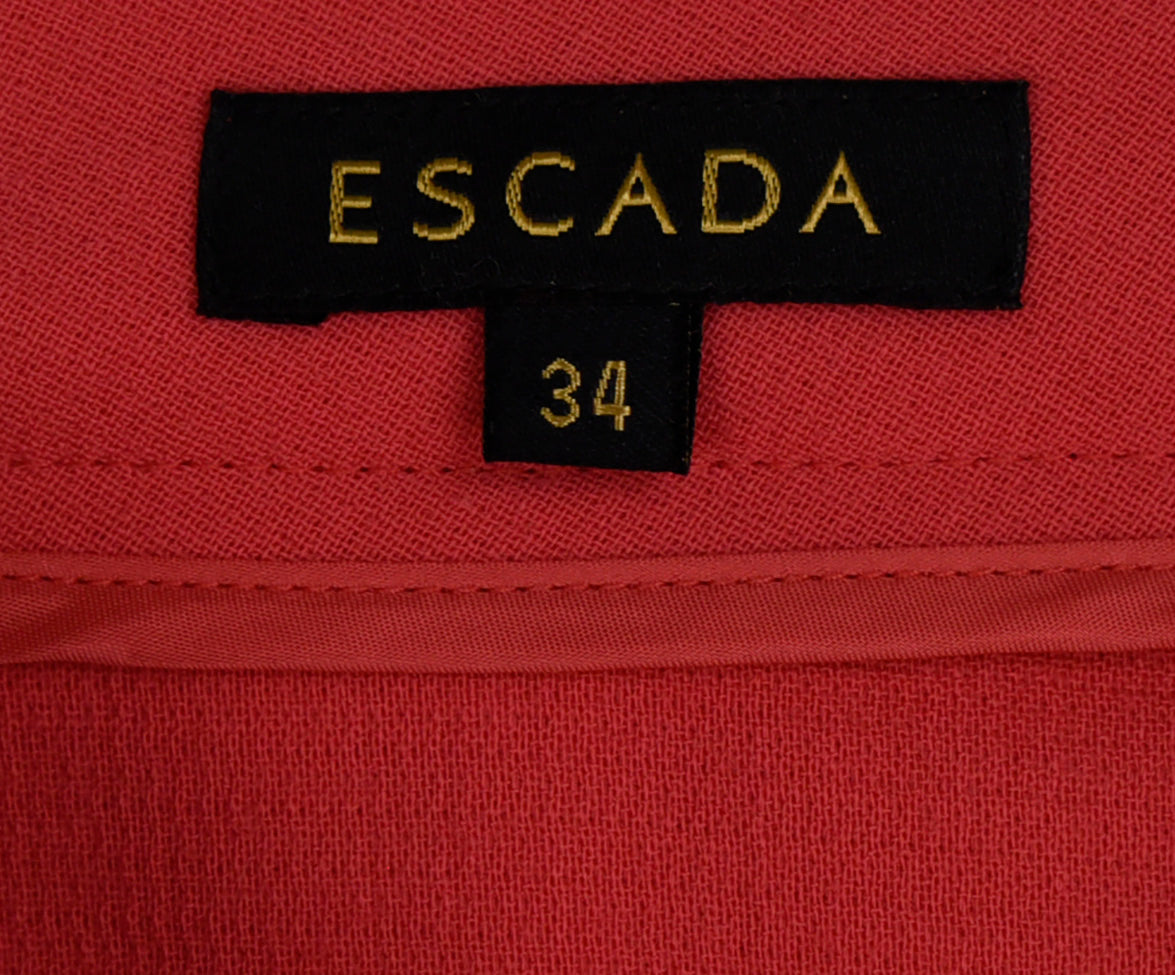 Escada Pink Coral Wool Pants 3