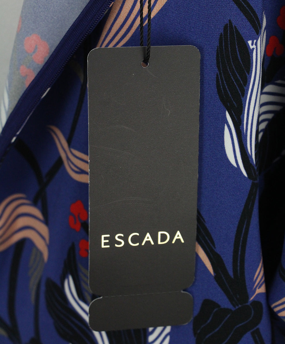 Escada purple black pink print blouse 5