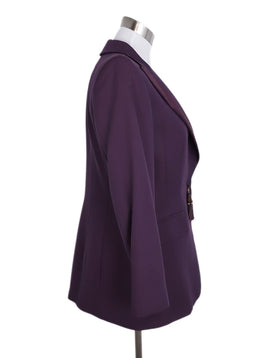 Escada Purple Wool Silk Blazer Jacket 2