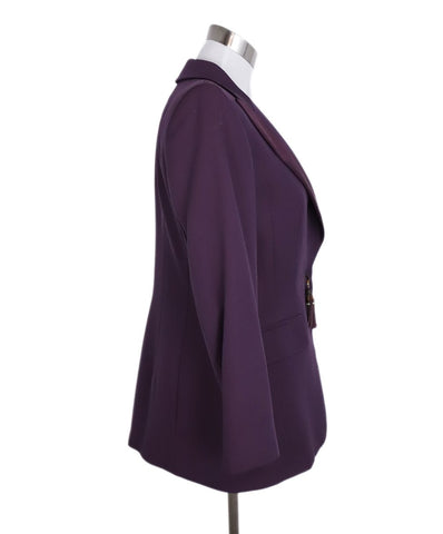 Escada Purple Wool Silk Blazer Jacket 1