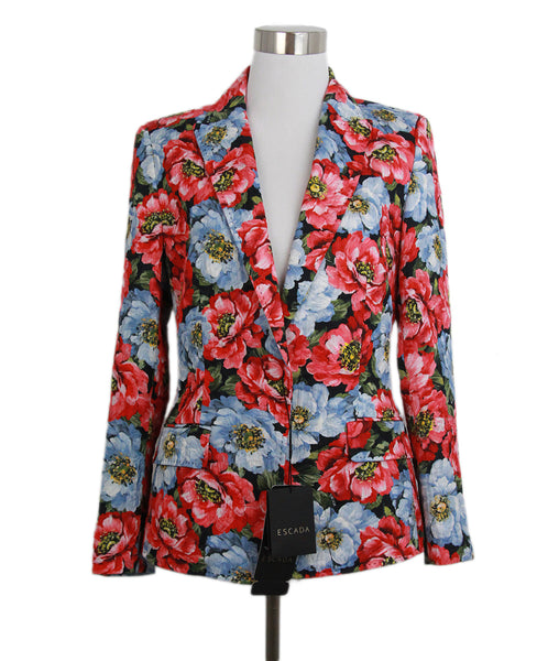 Escada red blue floral jacket 1