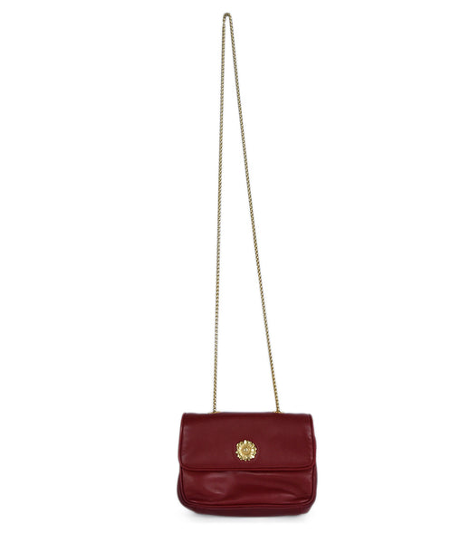 Escada Red Leather Crossbody Handbag 1