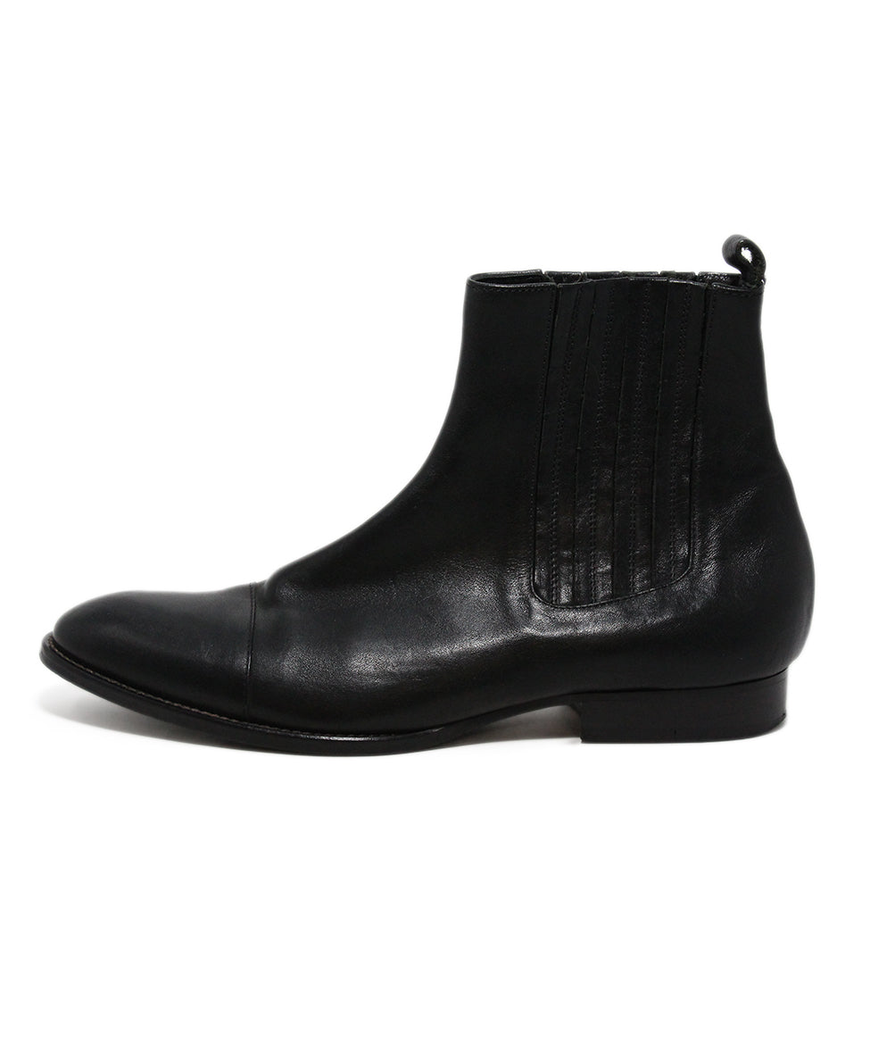 Etro Black Leather Booties 2