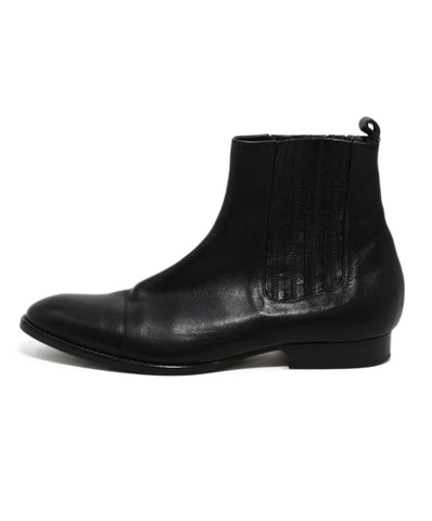 Etro Black Leather Booties 1