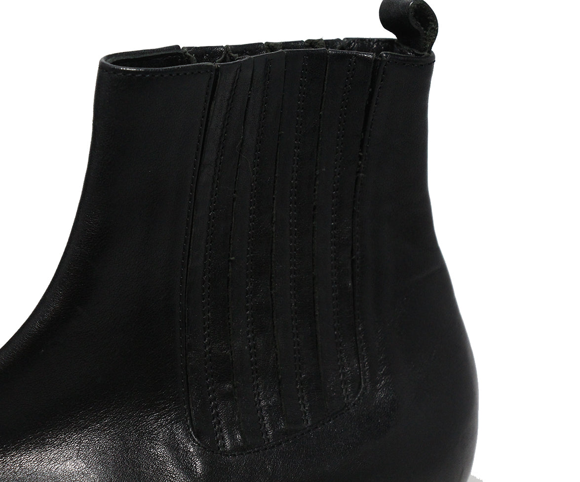 Etro Black Leather Booties 7