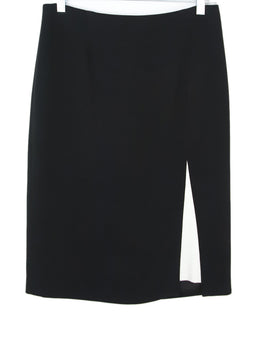 Etro Black Viscose White Trim Skirt 1