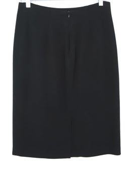 Etro Black Viscose White Trim Skirt 2