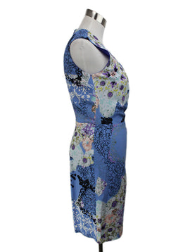 Etro Blue Mutli Floral Print Dress 2