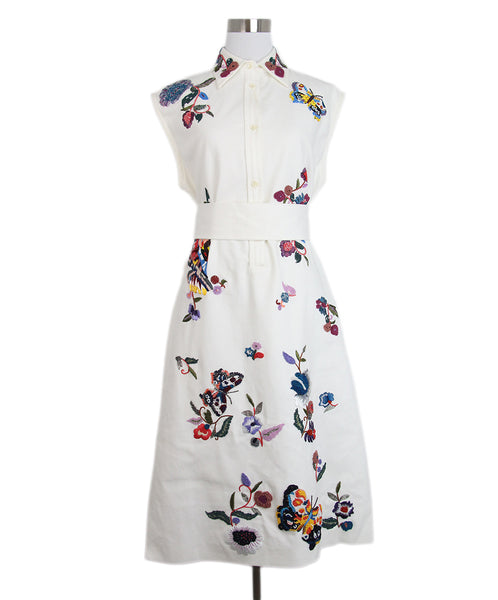 Etro White Multi Embroidered Dress 1