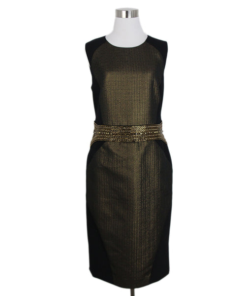 Etro black gold rhinestone dress 1
