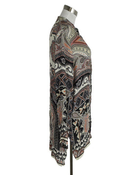 Etro Cream Multi Color Paisley Silk Tunic Top sz. 10 | Etro
